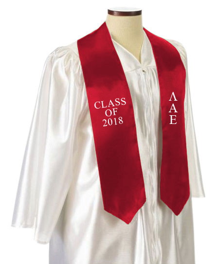 Lambda Alpha Upsilon Embroidered Graduation Sash Stole