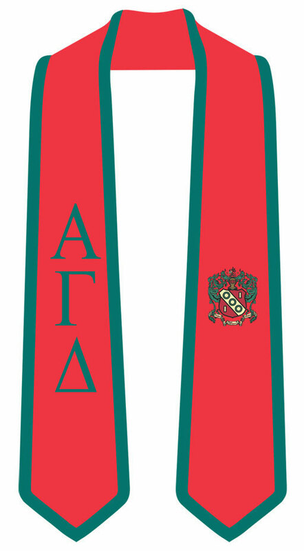 DISCOUNT-Alpha Gamma Delta Greek 2 Tone Lettered Graduation Sash Stole