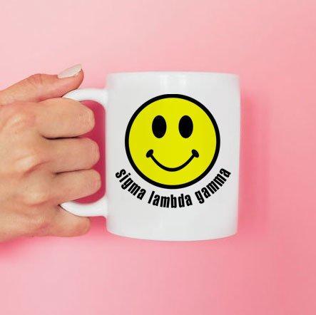 Sigma Lambda Gamma Smiley Face Coffee Mug - Personalized!