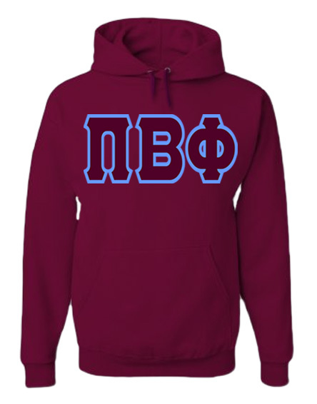 Jumbo Greek Twill Hooded Sweatshirt
