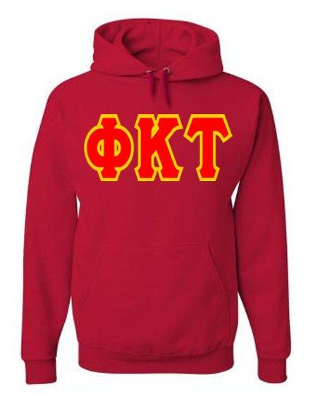 Jumbo Twill Phi Kappa Tau Hooded Sweatshirt