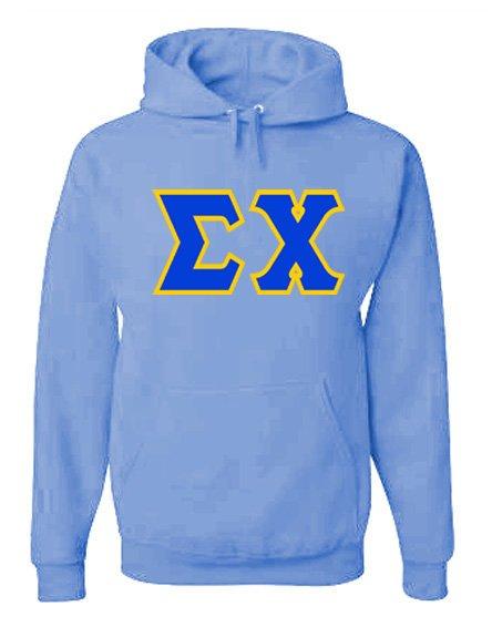 Jumbo Twill Sigma Chi Hooded Sweatshirt