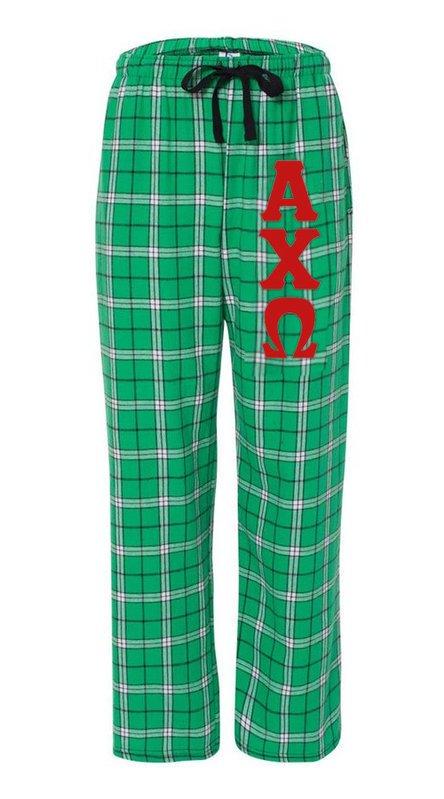 Alpha Chi Omega Pajamas -  Flannel Plaid Pant