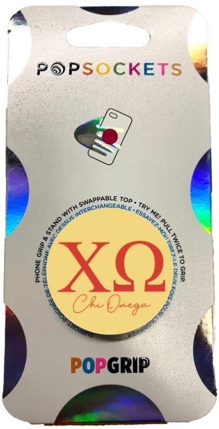 Chi Omega 2-Color PopSocket