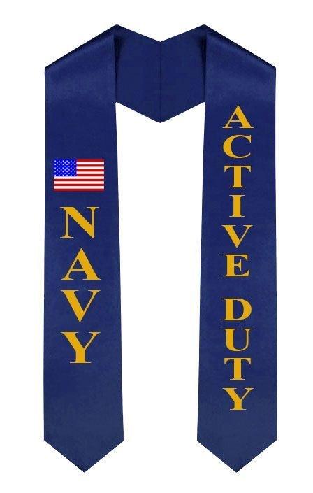 Navy Graduation Sash Stole