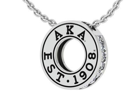 Alpha Kappa Alpha Circle Established Charm Necklace - ON SALE!