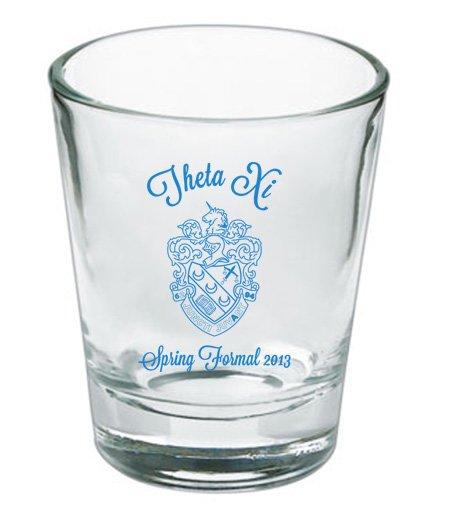 Custom Printed Short Glass Design #19