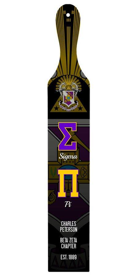 Sigma Pi Custom Full Color Paddle