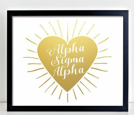 Alpha Sigma Alpha Heart Burst Foil Print