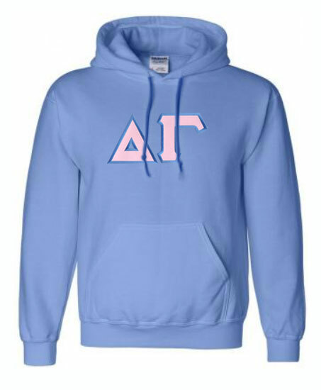 DISCOUNT Delta Gamma Lettered Hooded Sweatshirt