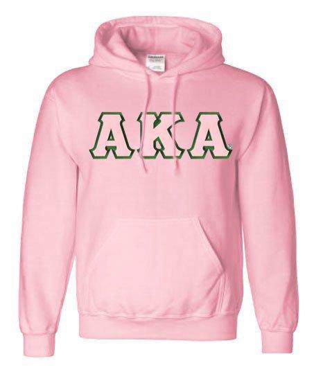 DISCOUNT Alpha Kappa Alpha Lettered Hooded Sweatshirt