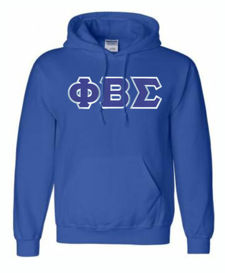 DISCOUNT Phi Beta Sigma Lettered Hooded Sweatshirt