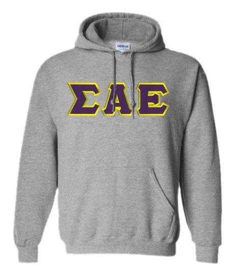 DISCOUNT Sigma Alpha Epsilon Lettered Hooded Sweatshirt