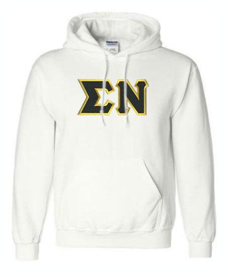 DISCOUNT Sigma Nu Lettered Hooded Sweatshirt