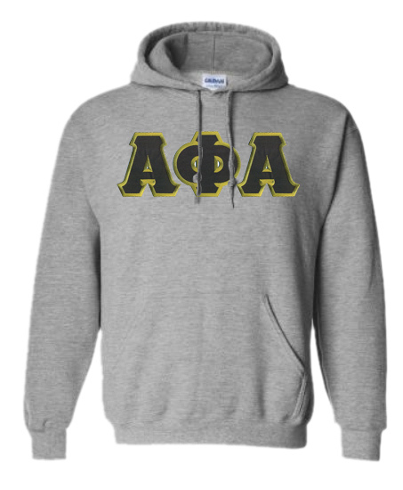 DISCOUNT Alpha Phi Alpha Lettered Hooded Sweatshirt