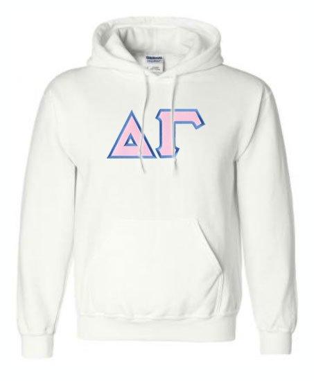 DISCOUNT Delta Gamma Lettered Hooded Sweatshirt