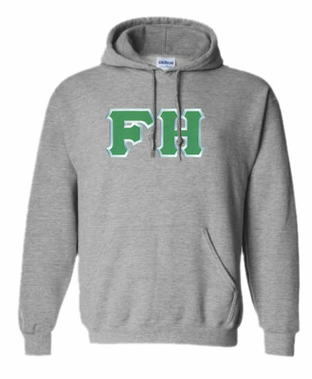DISCOUNT FarmHouse Fraternity Lettered Hooded Sweatshirt