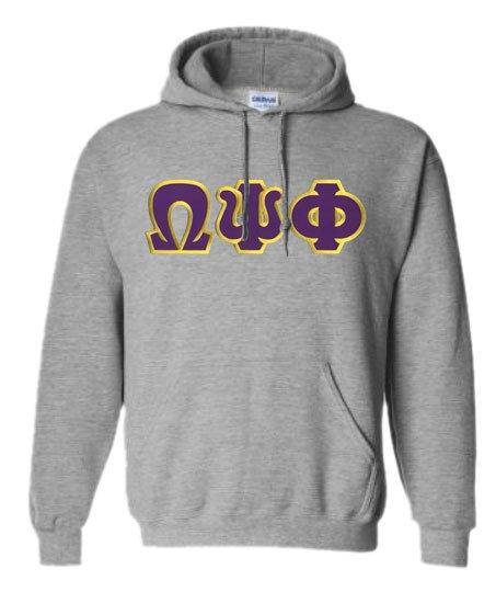 DISCOUNT Omega Psi Phi Lettered Hooded Sweatshirt