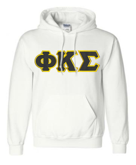 DISCOUNT Phi Kappa Sigma Lettered Hooded Sweatshirt