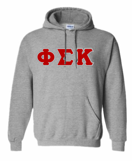 DISCOUNT Phi Sigma Kappa Lettered Hooded Sweatshirt