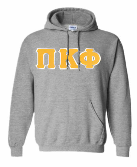 DISCOUNT Pi Kappa Phi Lettered Hooded Sweatshirt