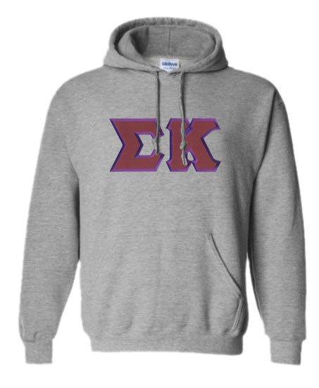 DISCOUNT Sigma Kappa Lettered Hooded Sweatshirt