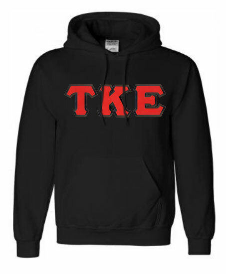 DISCOUNT Tau Kappa Epsilon Lettered Hooded Sweatshirt