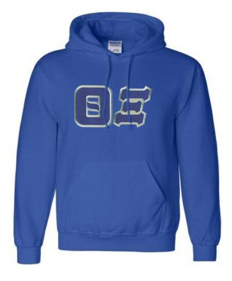 DISCOUNT Theta Xi Lettered Hooded Sweatshirt