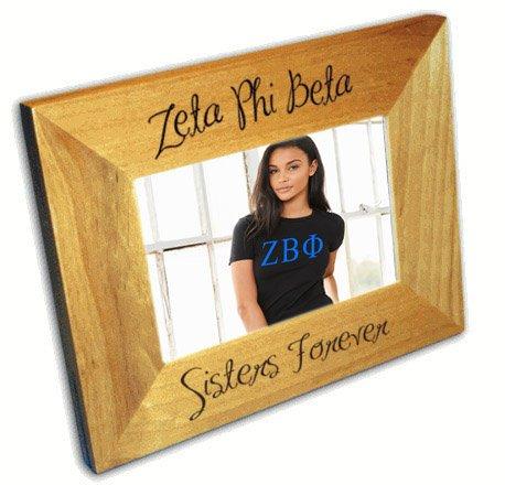 Zeta Phi Beta Wood Picture Frame