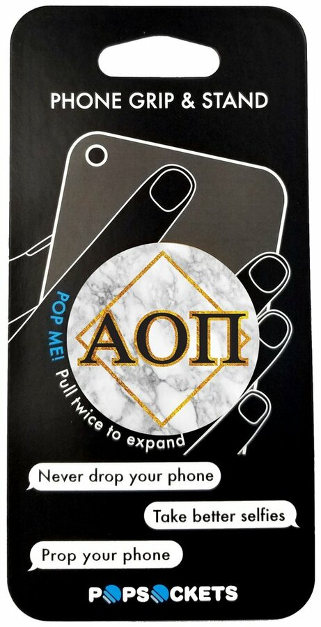 Alpha Omicron Pi Diamond Pop Socket