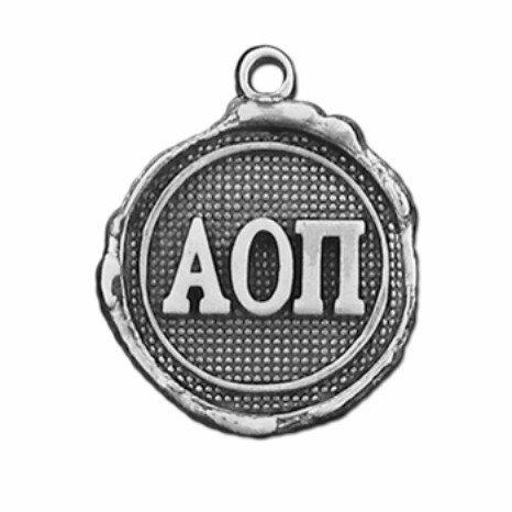 Alpha Omicron Pi Silver Impressions Charm