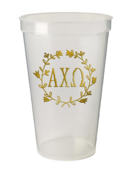 Alpha Chi Omega Greek Wreath Giant Plastic Cup
