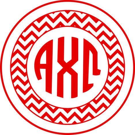 Alpha Chi Omega Sorority Monogram Bumper Sticker