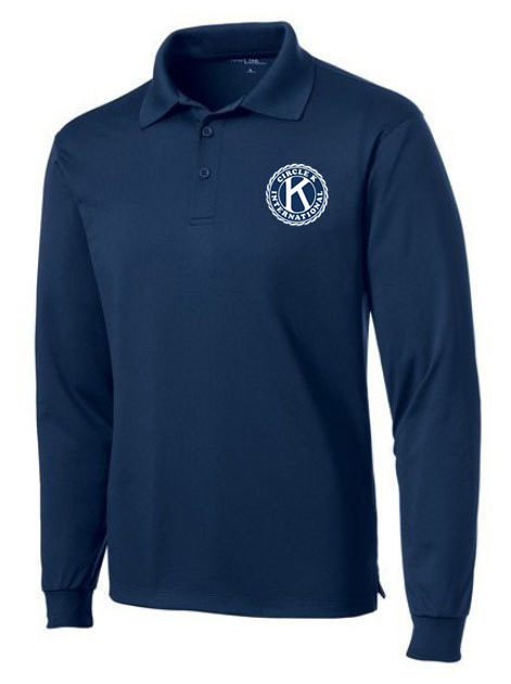 Circle K- $35 World Famous Long Sleeve Dry Fit Polo