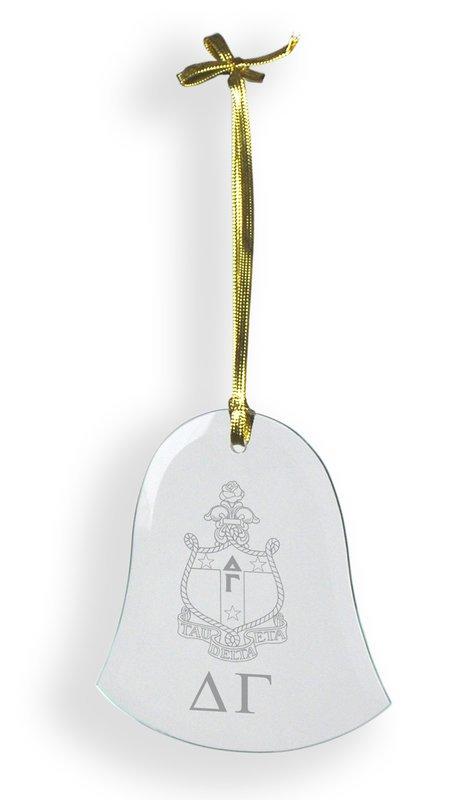 Delta Gamma Glass Bell Ornaments