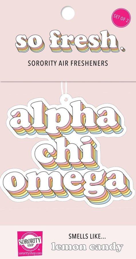 Alpha Chi Omega Retro Air Freshener (2 pack)