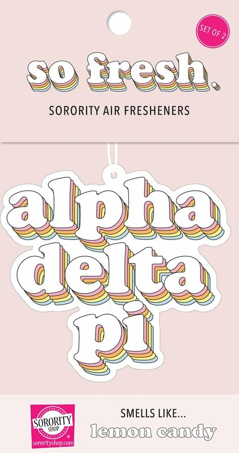 Alpha Delta Pi Retro Air Freshener (2 pack)