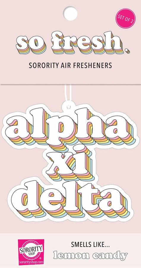 Alpha Xi Delta Retro Air Freshener (2 pack)