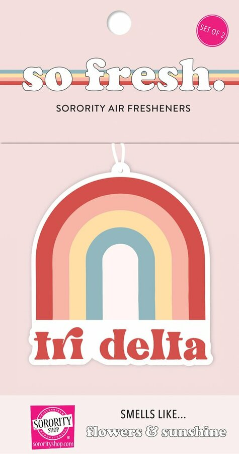 Delta Delta Delta Rainbow Retro Air Freshener - Flowers & Sunshine Scent