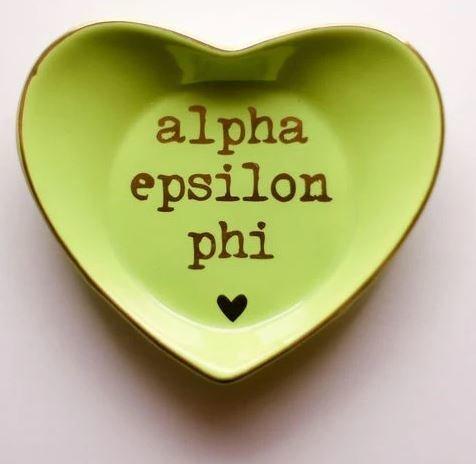 Alpha Epsilon Phi Ceramic Ring Dish