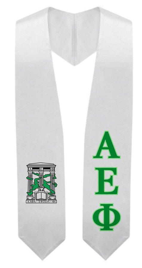 Alpha Epsilon Phi Super Crest - Shield Graduation Stole