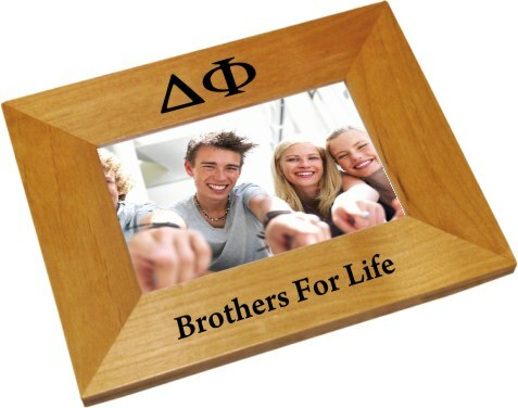 Delta Phi Wood Picture Frame