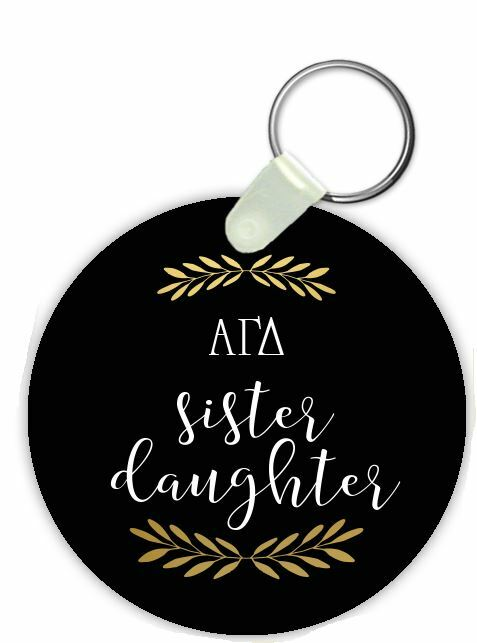 Alpha Gamma Delta Sister Daughter Keychain