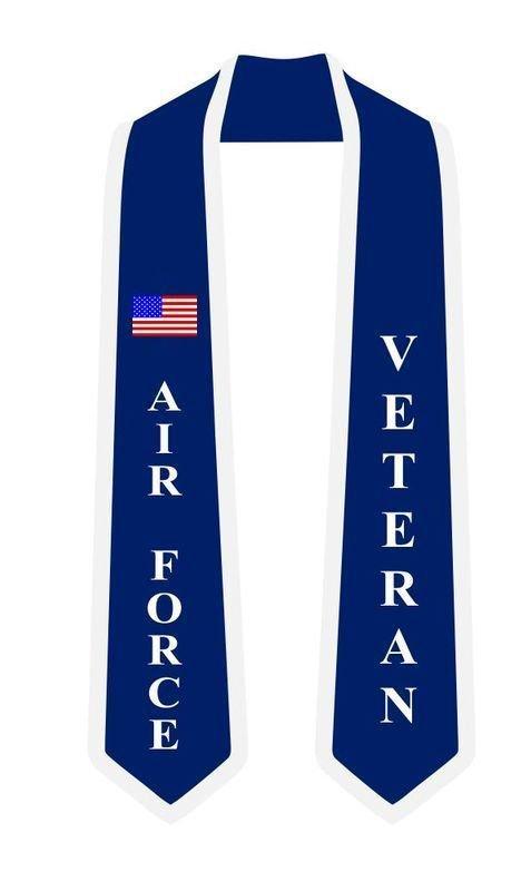 Air Force Graduation 2 Tone Sash Stole