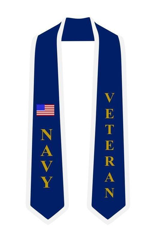 Navy Graduation 2 Tone Sash Stole