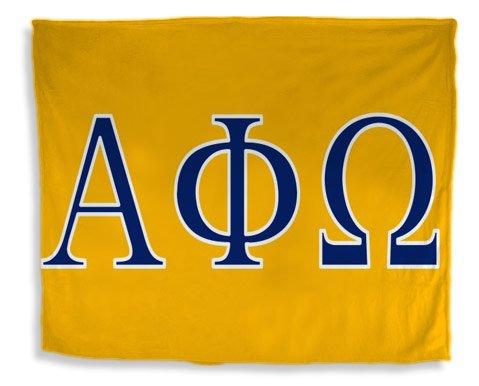 Alpha Phi Omega Flag Giant Velveteen Blanket