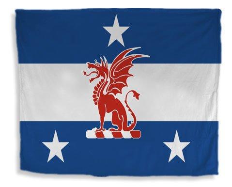 Fraternity Flag Giant Velveteen Blanket