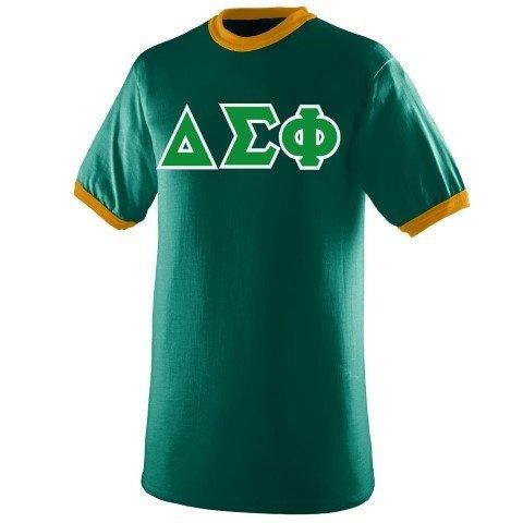 DISCOUNT- Delta Sigma Phi Lettered Ringer Shirt