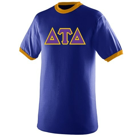 DISCOUNT- Delta Tau Delta Lettered Ringer Shirt