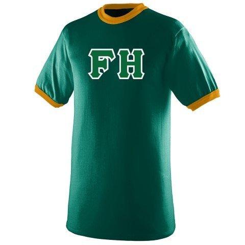 DISCOUNT- FarmHouse Fraternity Lettered Ringer Shirt